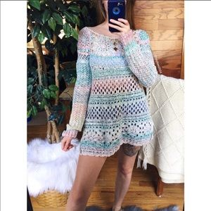 FREE PEOPLE Vintage Crochet Sweater NWT🌈